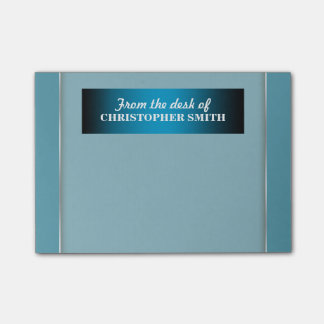 Mens office organizer | Personalize name Post-it Notes