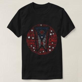 Men's Ohio Word Art Dark T-Shirt