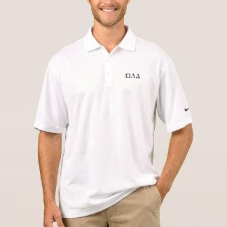 Mens Omega Lambda Delta Long Polo Shirt