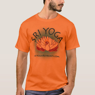 mens orange sri logo tee, large logo T-Shirt