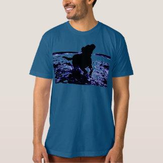 Men's organic t-shirt black lab in water