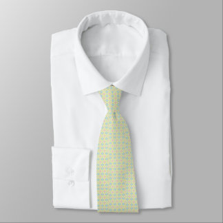 Men's pale green tie with circles