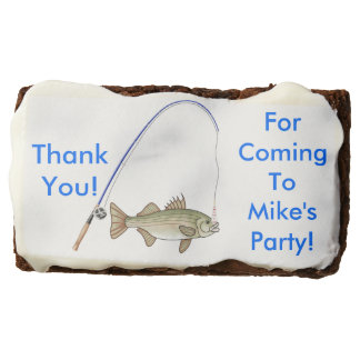 Men's Party Favor Fishing Lovers Brownie
