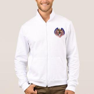 Men's Patrotic  Fleece Zip Jogger Jacket