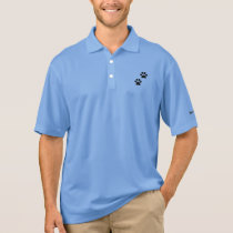 Men's Paw Prints Nike Dri-FIT Pique Polo Shirt