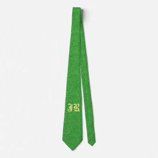 Men's Personalized Glittery Green Dress Tie