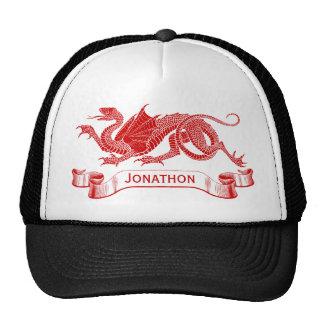 Men's Personalized Red Dragon Trucker Cap Trucker Hat