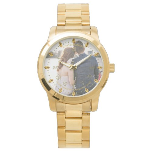 Mens PHOTO Watch 50th 60th Husband ANY Anniversary