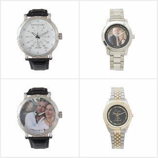 Mens Photo Watch - Add Name - SEE SALES NOW ON!!