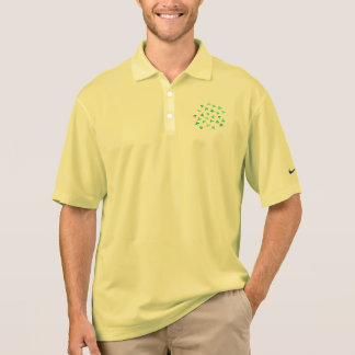 Men's pique polo T-shirt with clover leaves