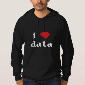 "Men's Pixelated ""i love data"" Pullover Hoodie"