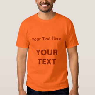 Mens Plain Basic Athletic Orange Your Text T-shirt
