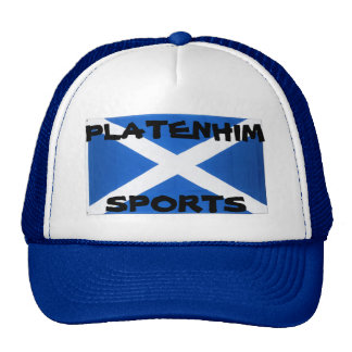 Mens Platenhim Sports Scotland Trucker hat