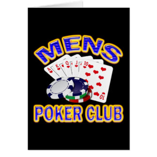 MENS POKER CLUB CARD