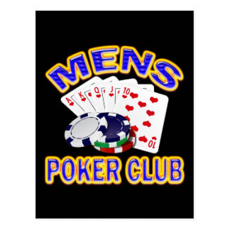 MENS POKER CLUB POSTCARD