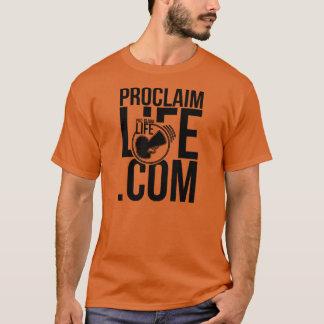 Men's Proclaim Life Url Orange/ Black T-Shirt