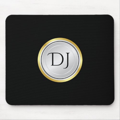 Men's Professional Look with Monogram Mouse Pad