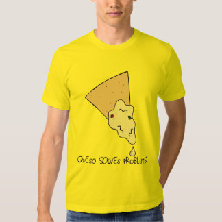 """Men's """"Queso Solves Problems"""" Tee"""