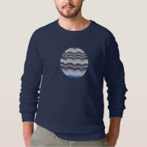 Men's raglan sweatshirt with blue mosaic
