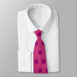 Men's raspberry and magenta silk tie
