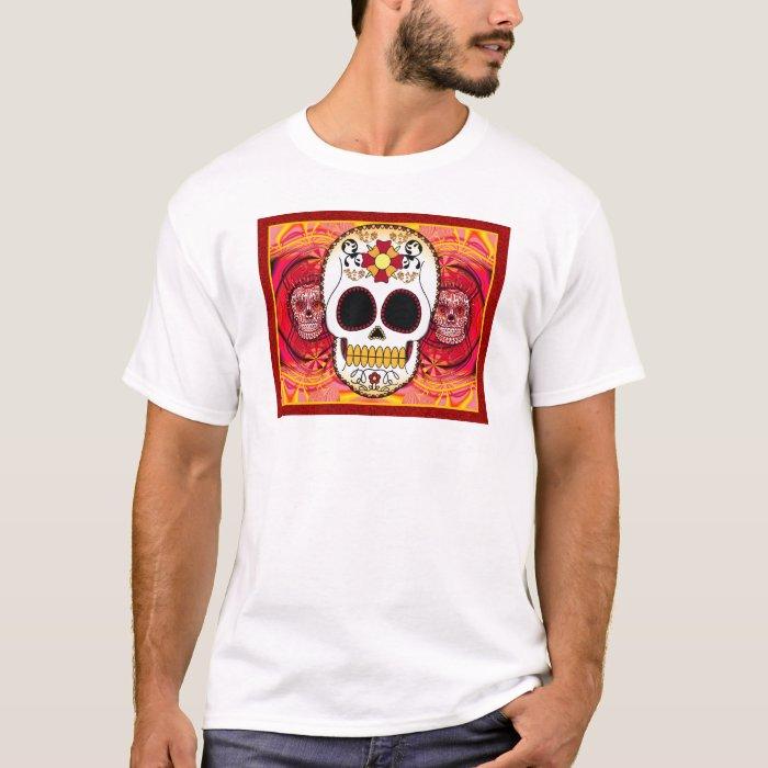 Men's Red Calaveras Shirt