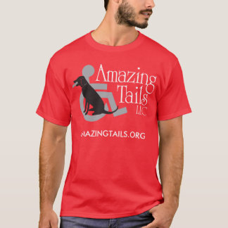 Men's red t-shirt with logo on the front