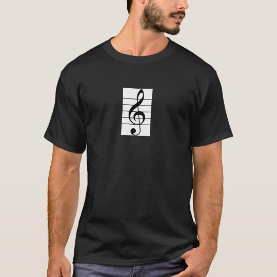Men's Reg. Treble Clef / Clarinet Design Shirt