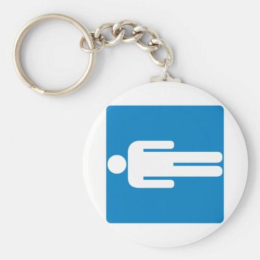 Men's Restroom Highway Sign Key Chain
