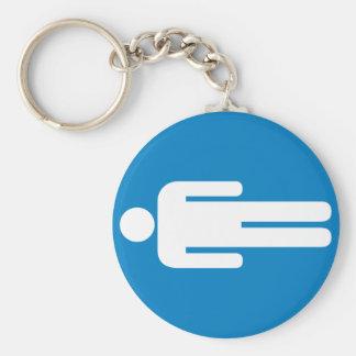 Men's Restroom Highway Sign Keychain
