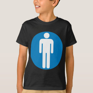 Men's Restroom Highway Sign T-Shirt