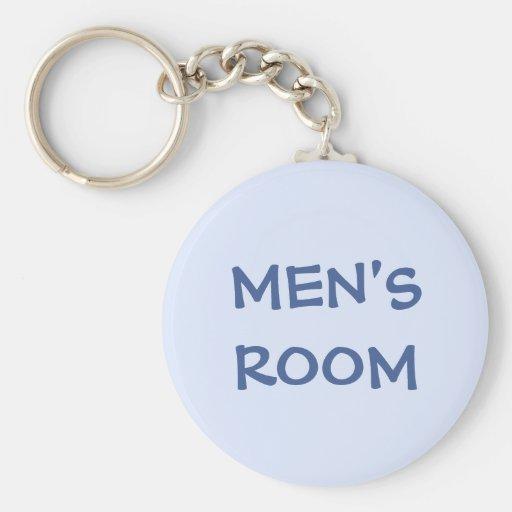 Men's restroom keychain