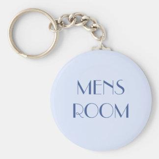 Mens restroom keyring basic round button keychain