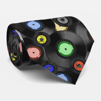 Mens Retro Records Tie