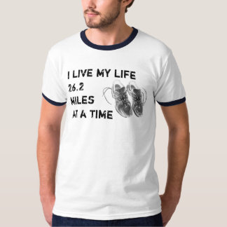Men's Ringer - Life 26.2 miles at a time Tee Shirt