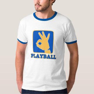 men's ringer playball logo t-shirt