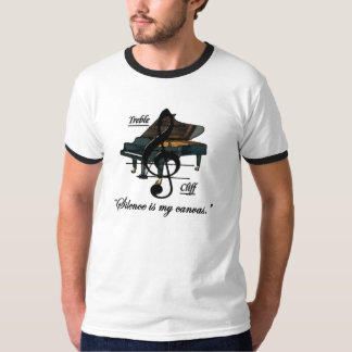 """Men's Ringer """"Silence is my canvas."""" T-Shirt"""