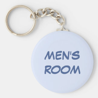 Men's room blue keychain