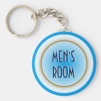 Men's Room Custom Keychain