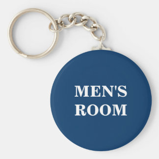 Men's room keychain