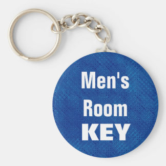 Men's Room Keychain - Blue and Black