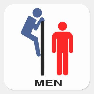 """Mens' Room"" Square Sticker"