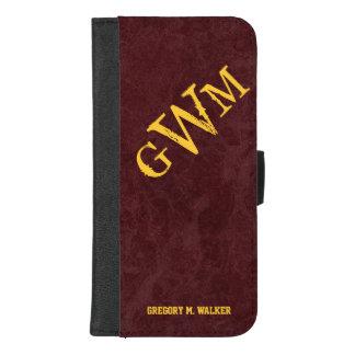 Mens Rustic Country Western Monogram iPhone 8/7 Plus Wallet Case