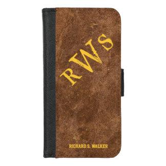 Mens Rustic Country Western Monogram iPhone 8/7 Wallet Case