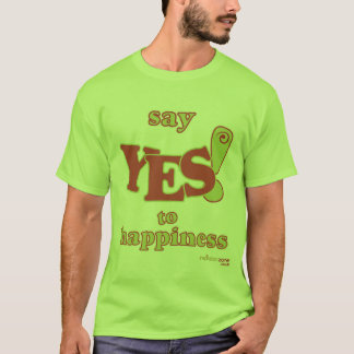 Mens 'Say Yes to Happiness' T-Shirt