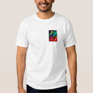 Mens seahorse colorful collage shirt design