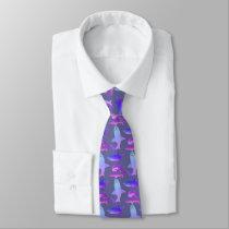 Mens Shark Tie-Purple's Neck Tie