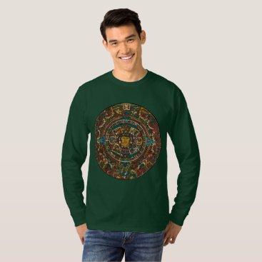 Aztec Themed Men's Shirt, Aztec Design T-Shirt