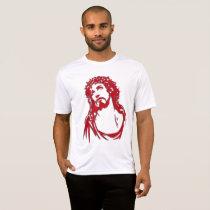 Men's shirt with image of Christ