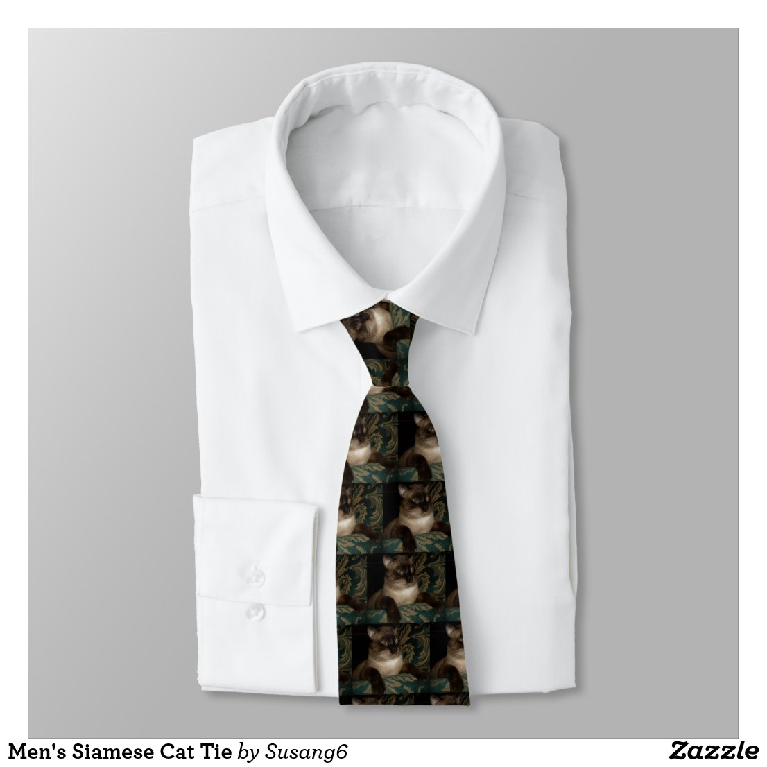 Men's Siamese Cat Tie