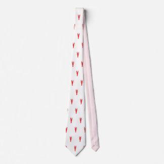 Men's silk crawfish tie, red, white neck tie